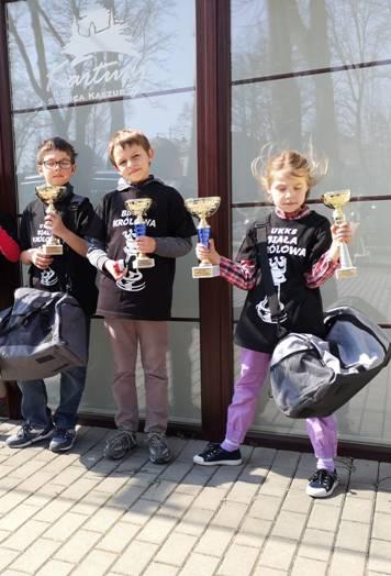 Kolejny sukces rodzeństwa: turniej szachowy w Kartuzach, 6. kwietnia 2019r.