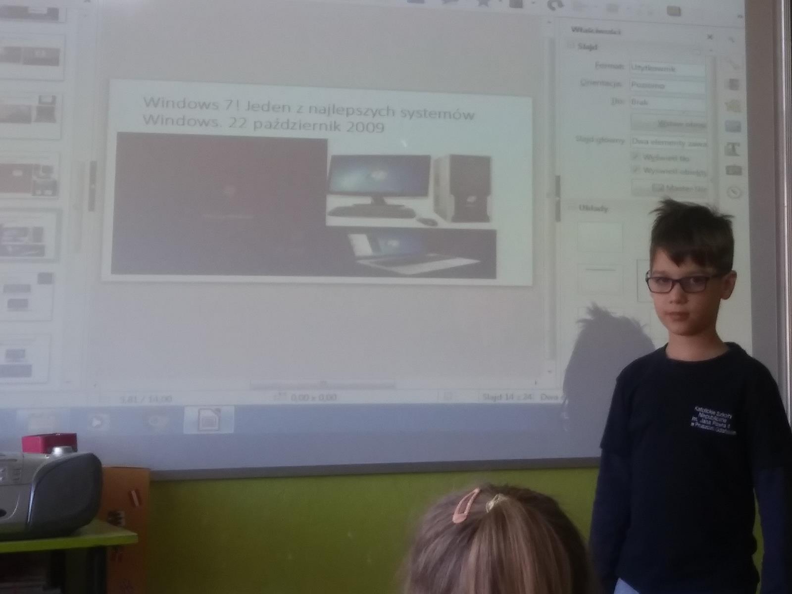 O rozwoju technologii komputerowej - prowadzona przez Piotrusia