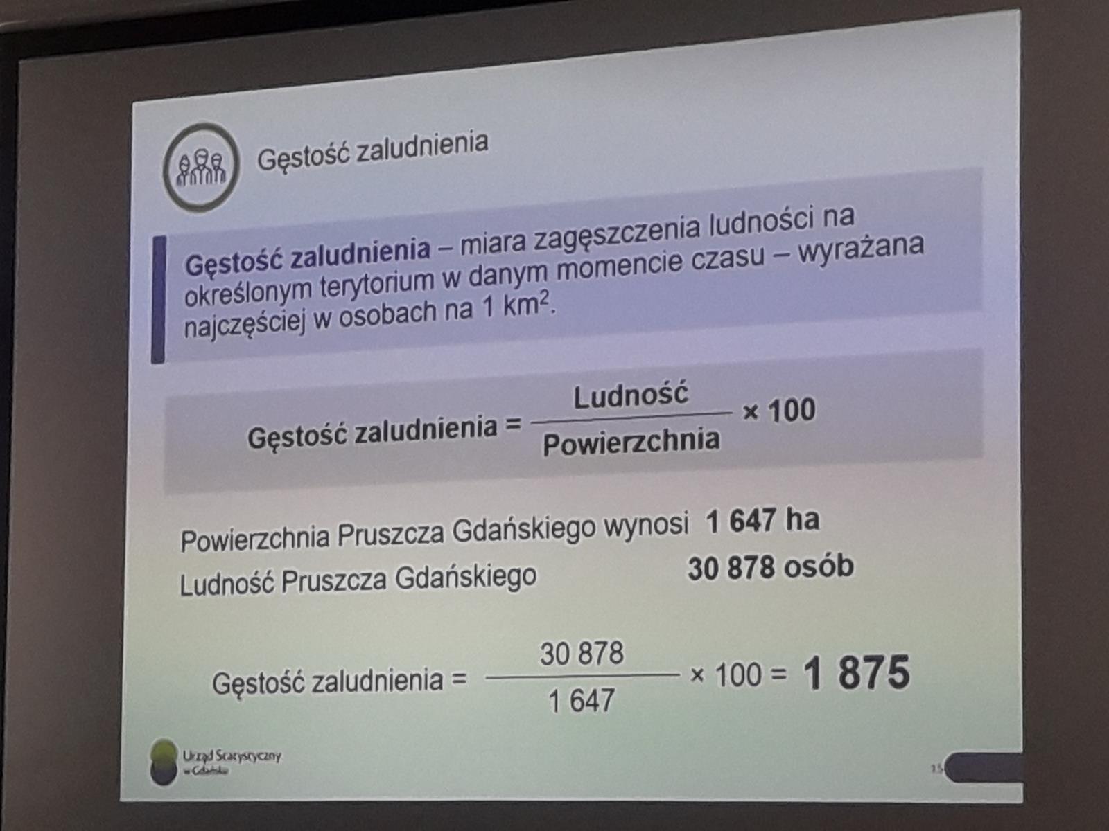 Warsztaty dla liceum w Urzędzie Statystycznym w Gdańsku.