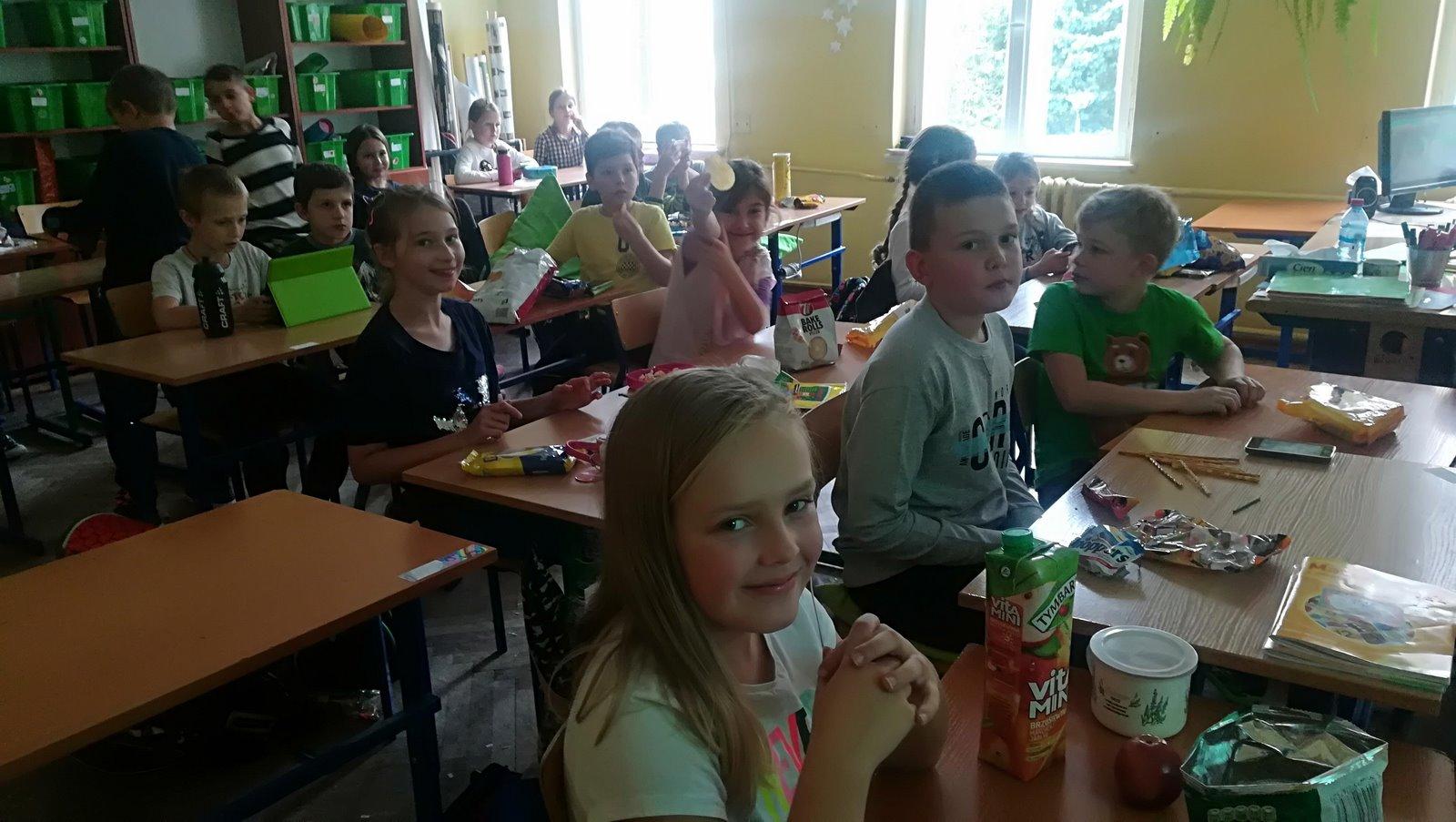 Sala kinowa w klasie czwartej