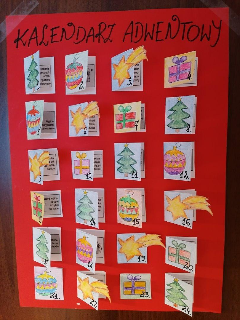 Kalendarze adwentowe uczniów KSN