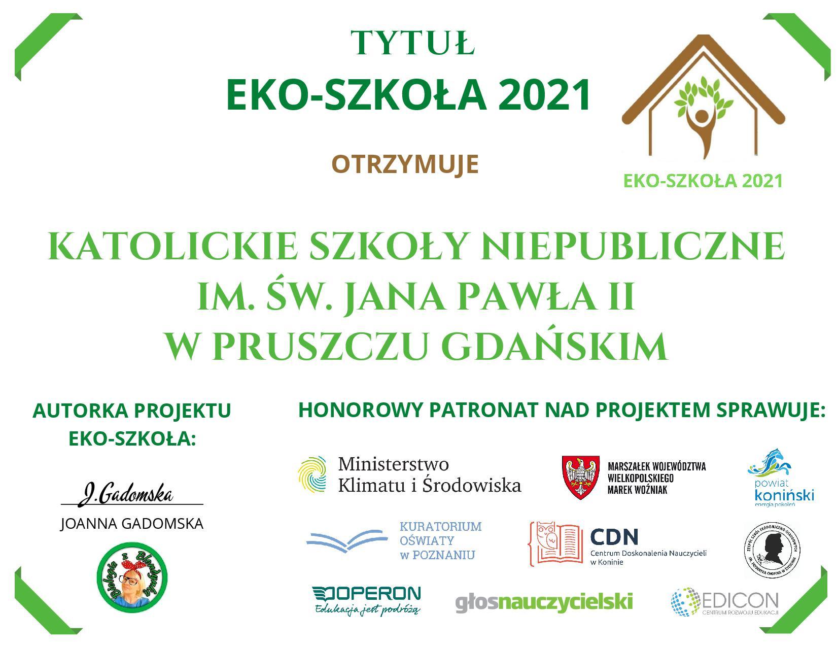 KSN - Laureat ogólnopolskiego projektu ekologicznego.