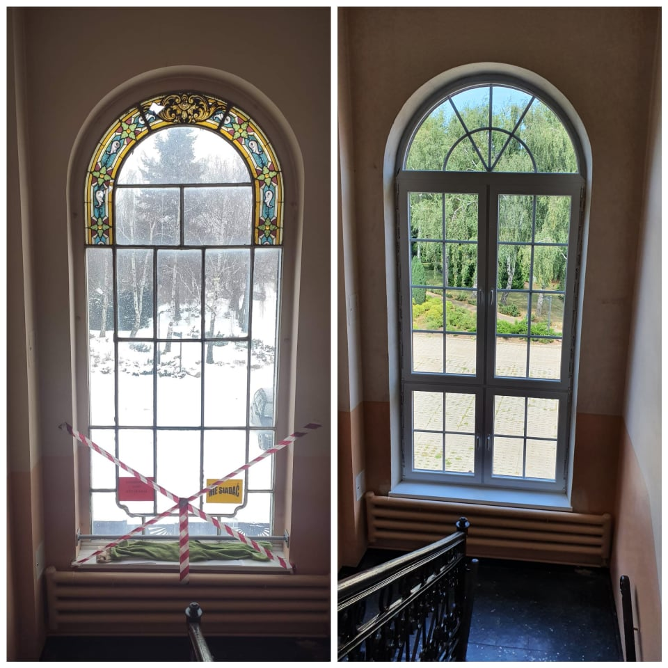 Wymiana okna na klatce schodowej