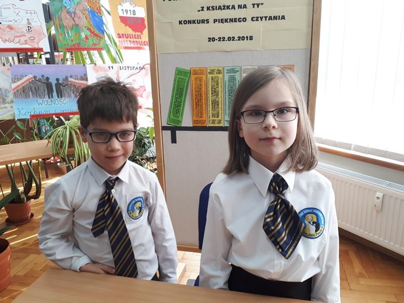 1 miejsce w VIII powiatowym konkursie czytelniczym - pięknego czytania