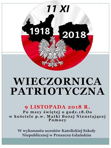 09.11.2018 R. - WIECZORNICA PATRIOTYCZNA