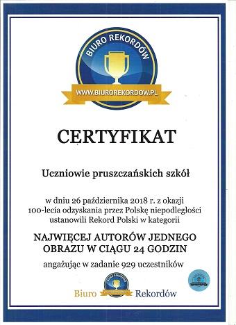 Rekord Polski w kategorii ,, NAJWIĘCEJ AUTORÓW JEDNEGO OBRAZU W CIĄGU 24 GODZ